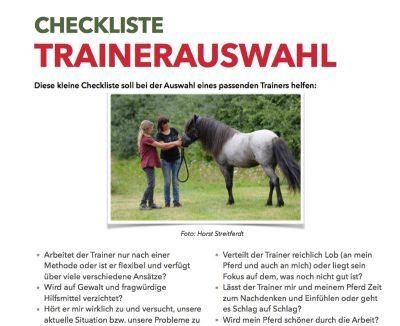 Checkliste Trainerauswahl