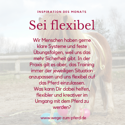 Sei flexibel
