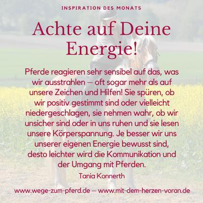Achte auf Deine Energie